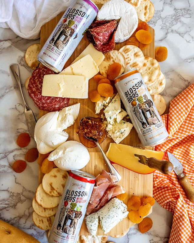 We know a thing or two (or three) about creating cheese and wine pairings that are sure to be a hit at your Thanksgiving gatherings.  BLOOD ORANGE & GINGER ROOT: From classic blue cheeses to aged gouda, the ginger finish on this spritzer is ideal for bold, flavorful cheeses.  WHITE PEACH & JASMINE FLOWER: From camembert to havarti, the stone fruit and subtle floral aromatics are a gorgeous pairing with all soft cheeses.  WILD STRAWBERRY & LIME ZEST: Your favorite medium-bodied cheese, such as creamy goat or burrata, will pair perfectly with this refreshing rosé wine spritzer.
