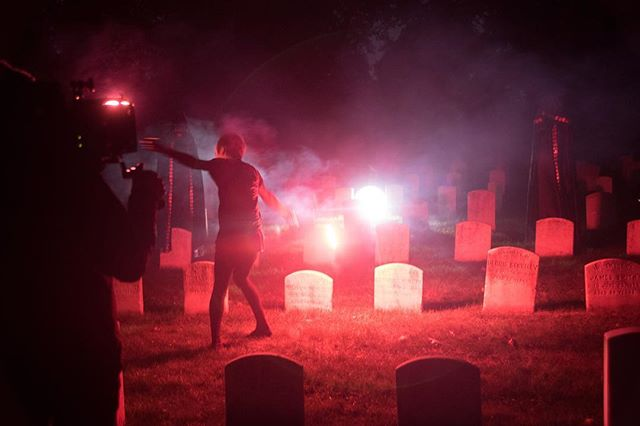 Getting ghoulish in the graveyard for a recent music video project.