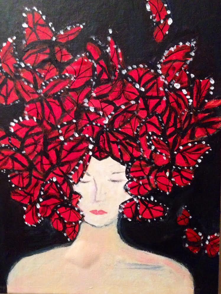 Butterfly Head Dress (Homage to Alexander McQueen)