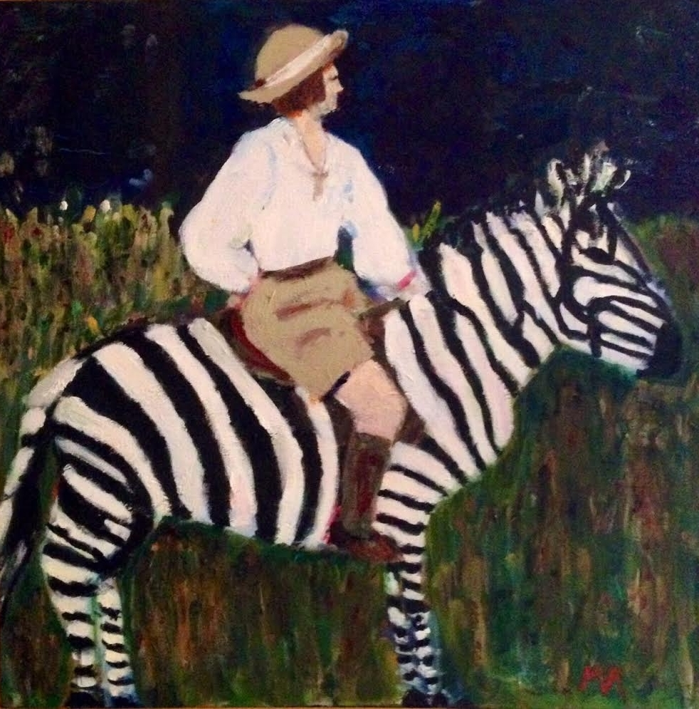 Lady on Zebra