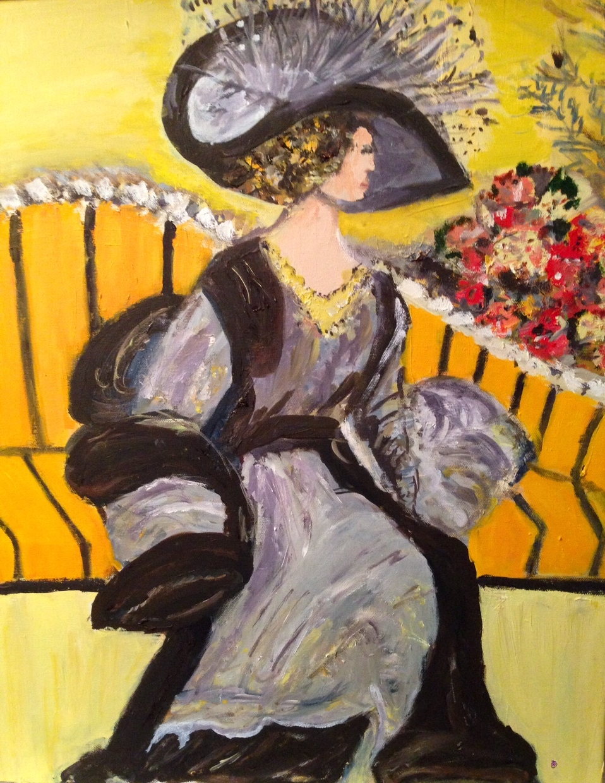 Victorian Lady on Sofa