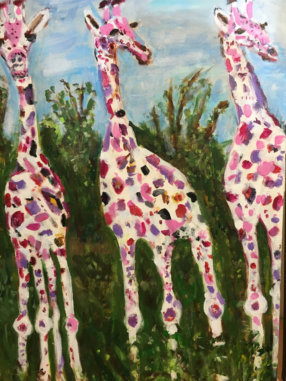 Three Dreamy Giraffes