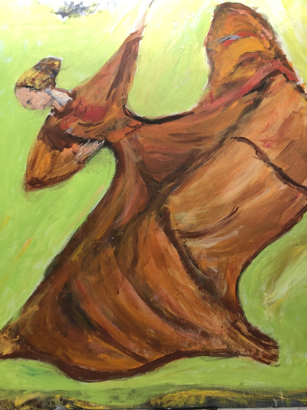 Dancer in Orange