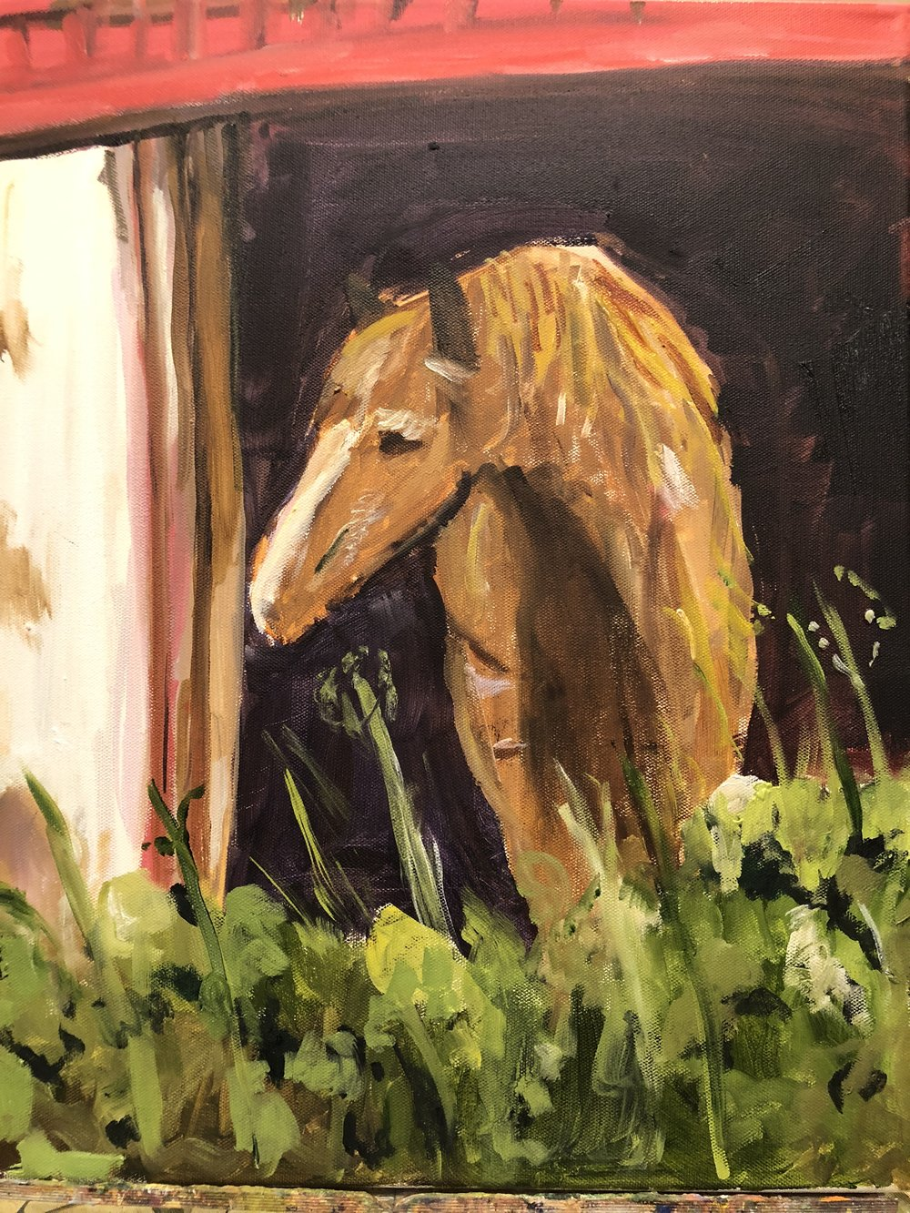 Horse in Doorway