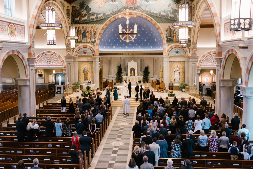 catholic church wedding in South Bend Indiana