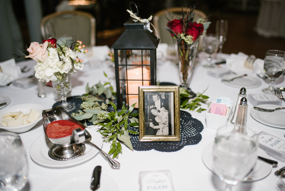 wedding table setup with picture