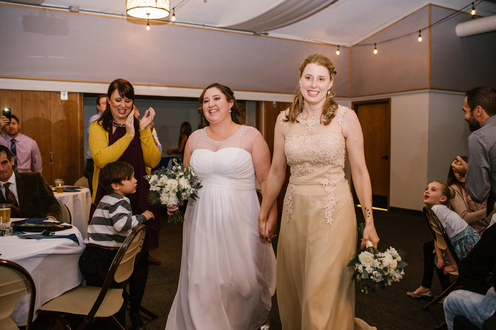 brides making grand entrance