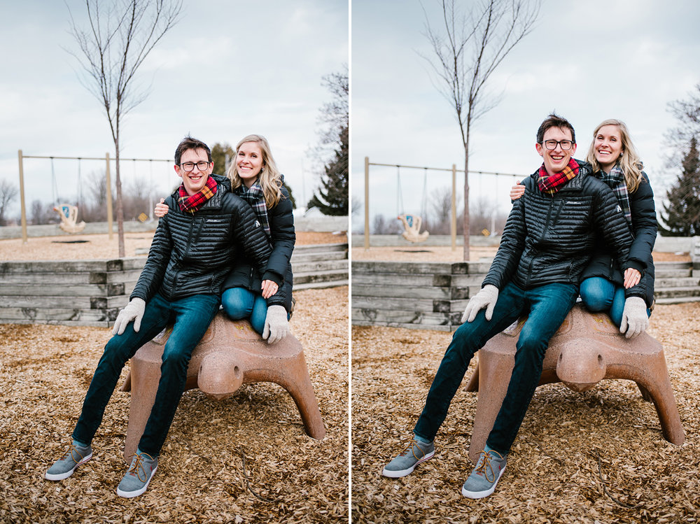 engagement pictures on playground