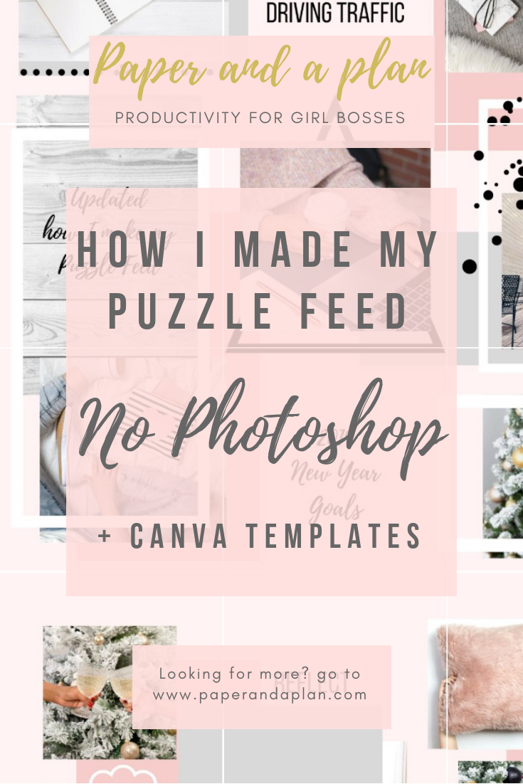 How To Make A Puzzle Feed In Canva (Without Photoshop