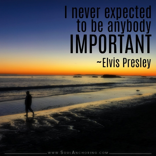 """I never expected to be anybody important."" ~Elvis Presley 