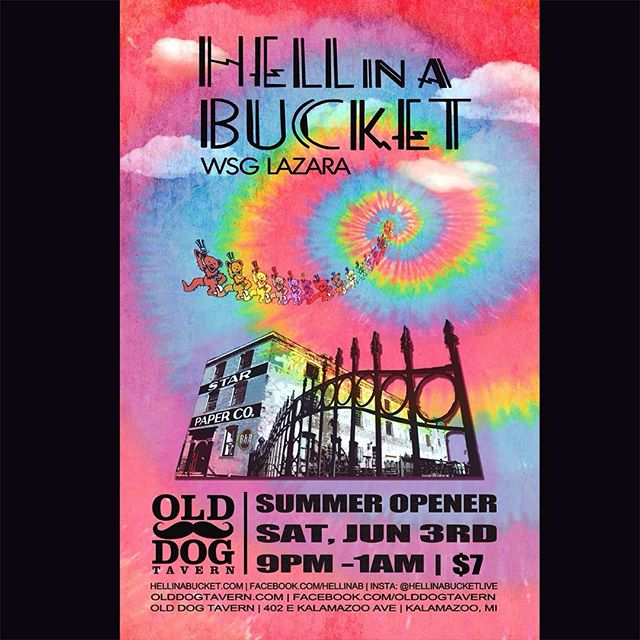 Excited to get the summer season going at the @olddogtavern on June 3rd in their beautiful outdoor venue!  #phish #gratefuldead #frankzappa #kalamazoo #summer #olddogtavern