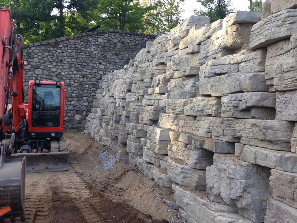 Create a Natural Looking Retaining Wall with Boulders and Rocks from Our Landscape Supply in Rockland County, NJ, Area