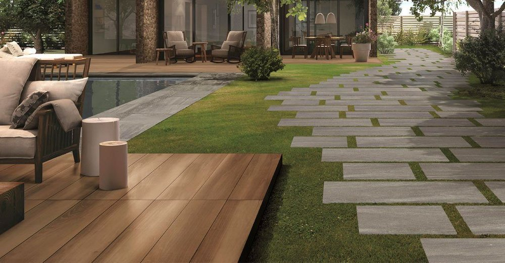 3 Landscaping Ideas for Mixing Concrete Paving Stones, Natural Stone, and Wood in Rockland County, NY