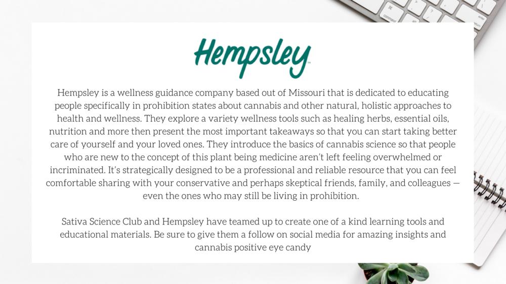 Hempsley Health / Sativa Science Club