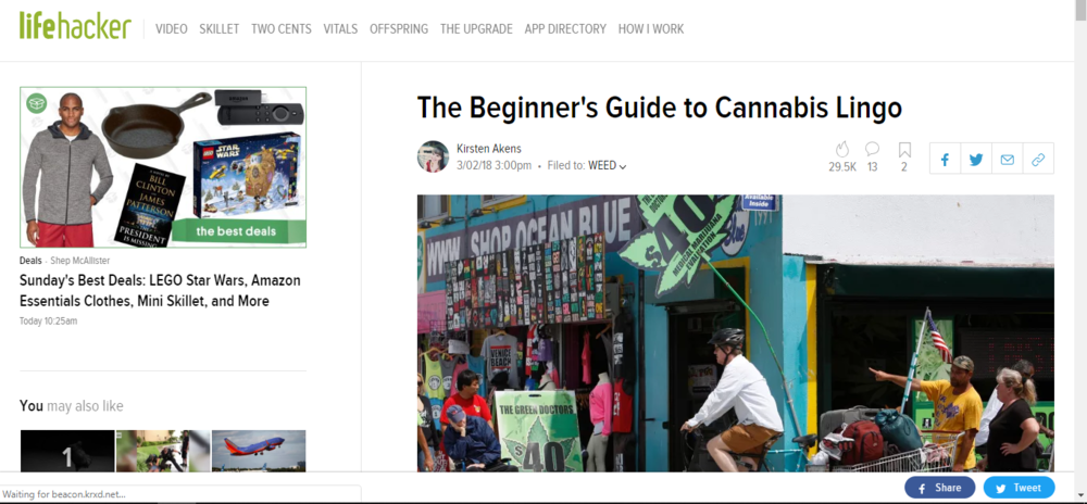 Lifehacker gives the lowdown on cannabis lingo with a little help from SSC.
