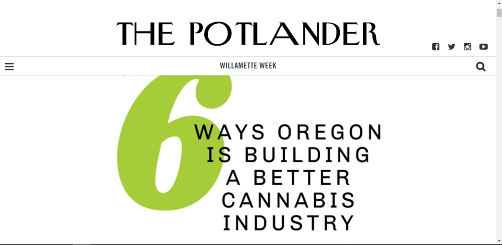 We're blushing !  6 Ways Oregon is Building a Better Cannabis Industry ~ WW