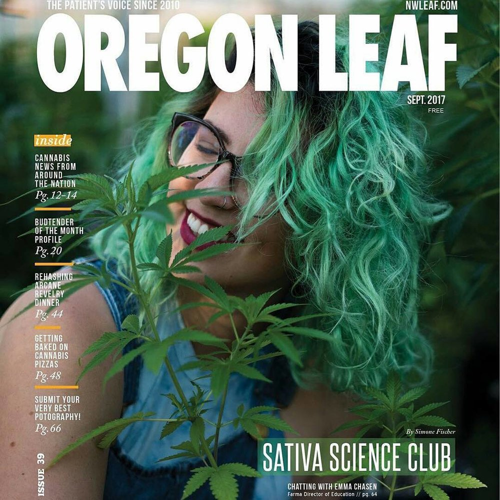 That one time we made the cover of the Oregon Leaf! September issue 2017!