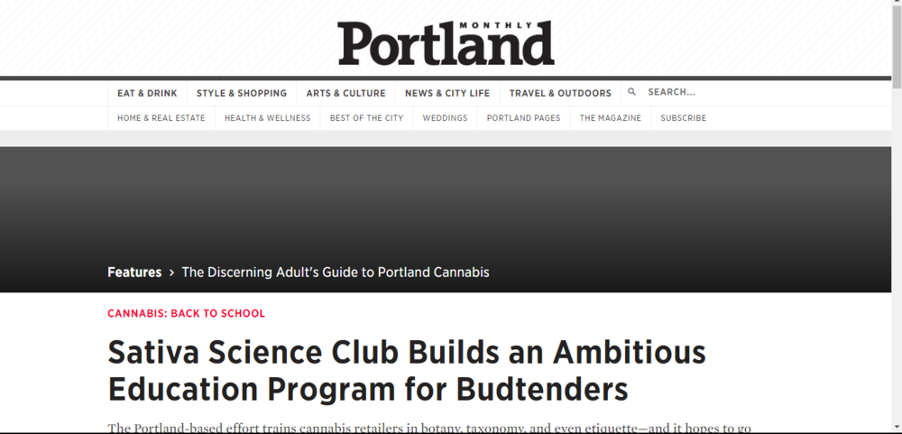 Sativa Science Club Builds an Ambitious Education Program for Budtenders ~ Portland Monthly