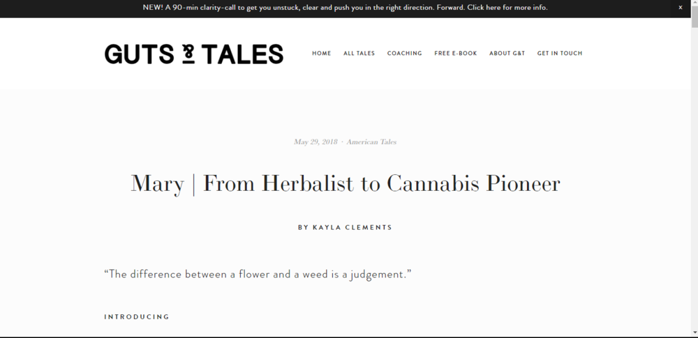 Mary | From Herbalist to Cannabis Pioneer~ Guts & Tales