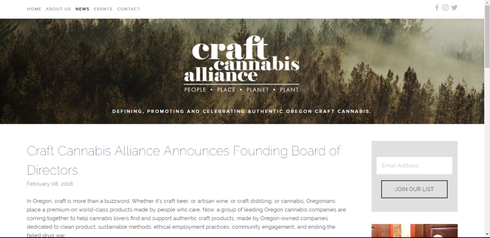 SSC Founder Brandie Leach (Mary Jane Poppins) Is welcomed to the board of the Oregon Craft Cannabis Alliance.