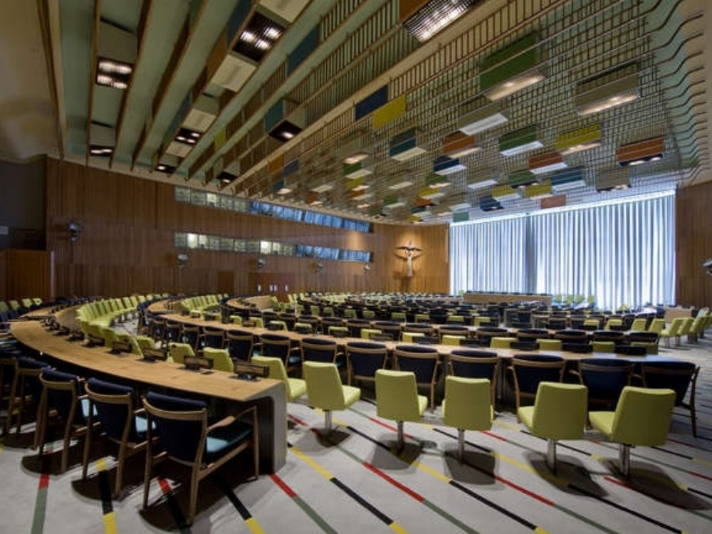 United Nations Headquarters - Renovations and upgrades to the Conference and General Assembly buildings of the The United Nations headquarters in New York, 2003-2013. Scope also included the creation of design and preservation guidelines to be applied across the UN complex (with EYP Architecture and Engineering)