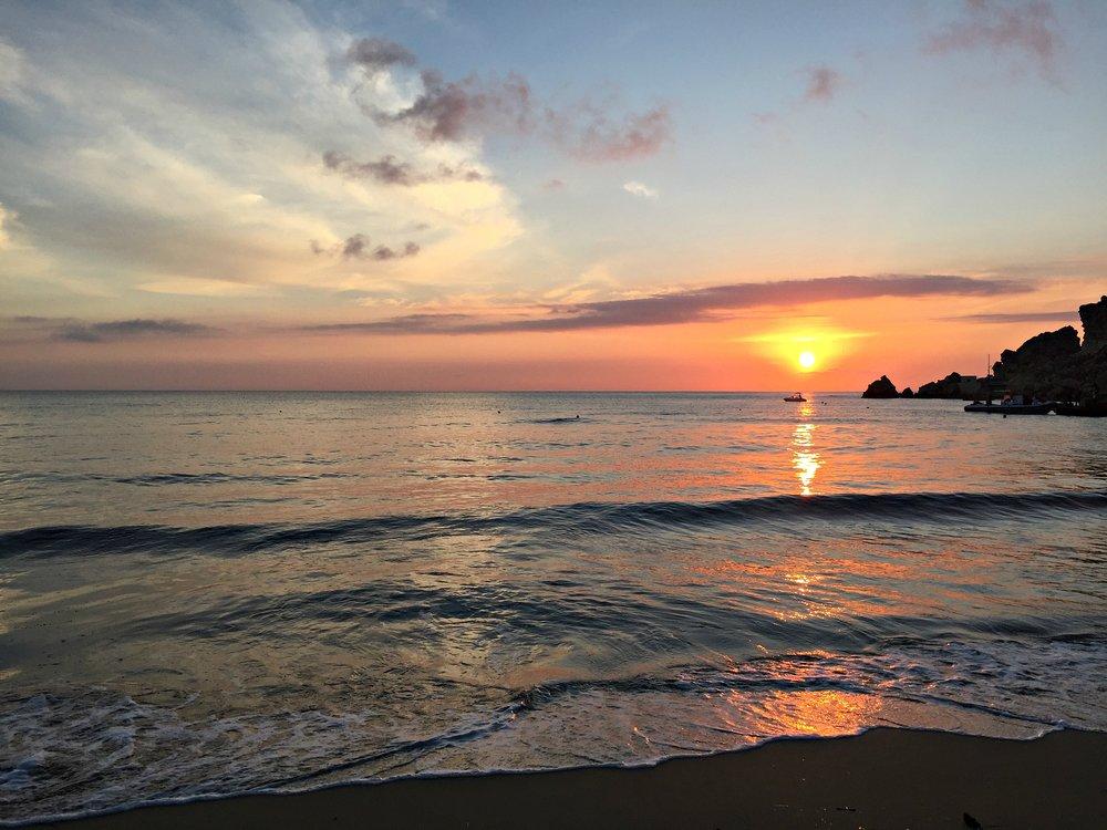 Sunset at Golden Bay, Malta