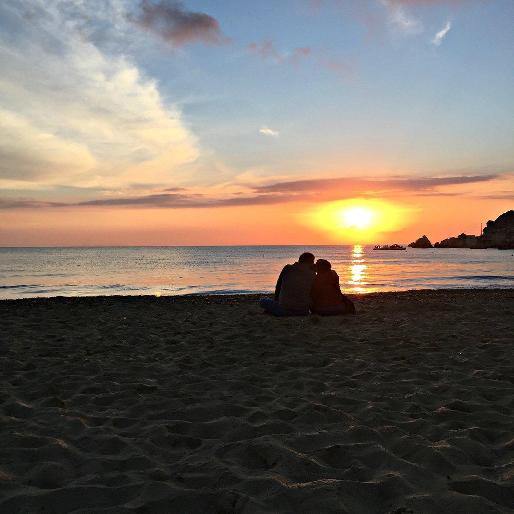 Romantic sunset in Malta