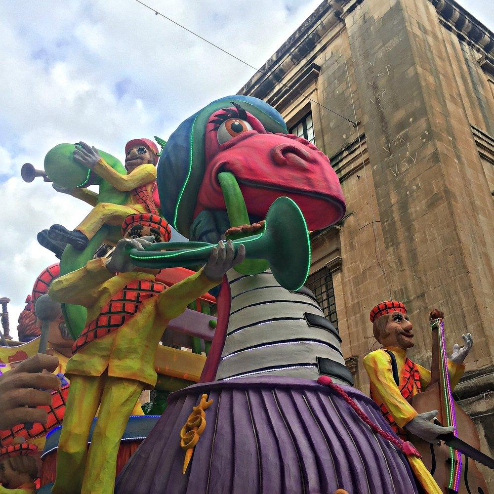Malta Carnival Float in Valletta