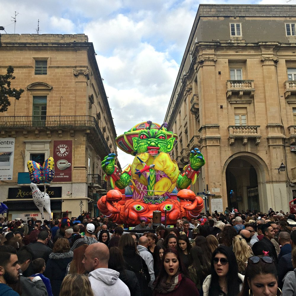 Carnival Float in Valletta Republic Street