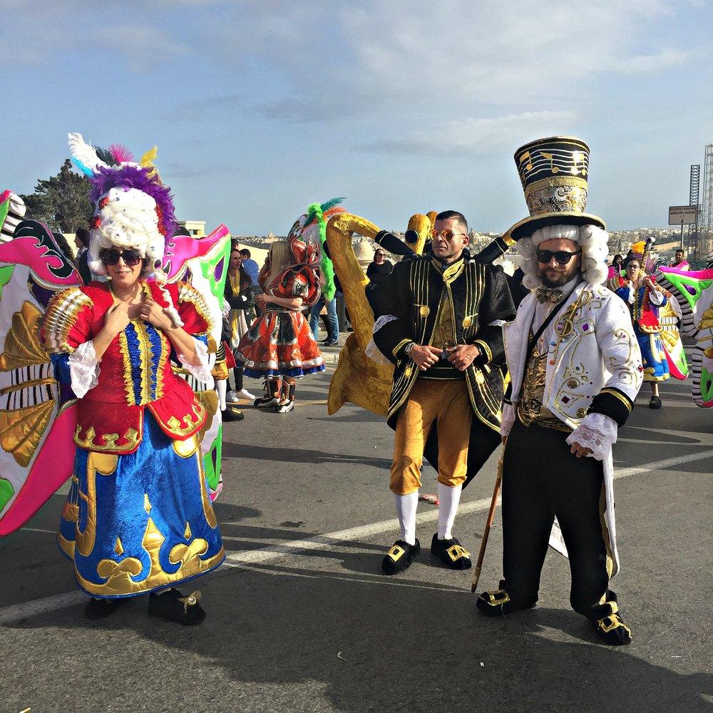 Malta Valletta Carnival People Dressed in Costumes