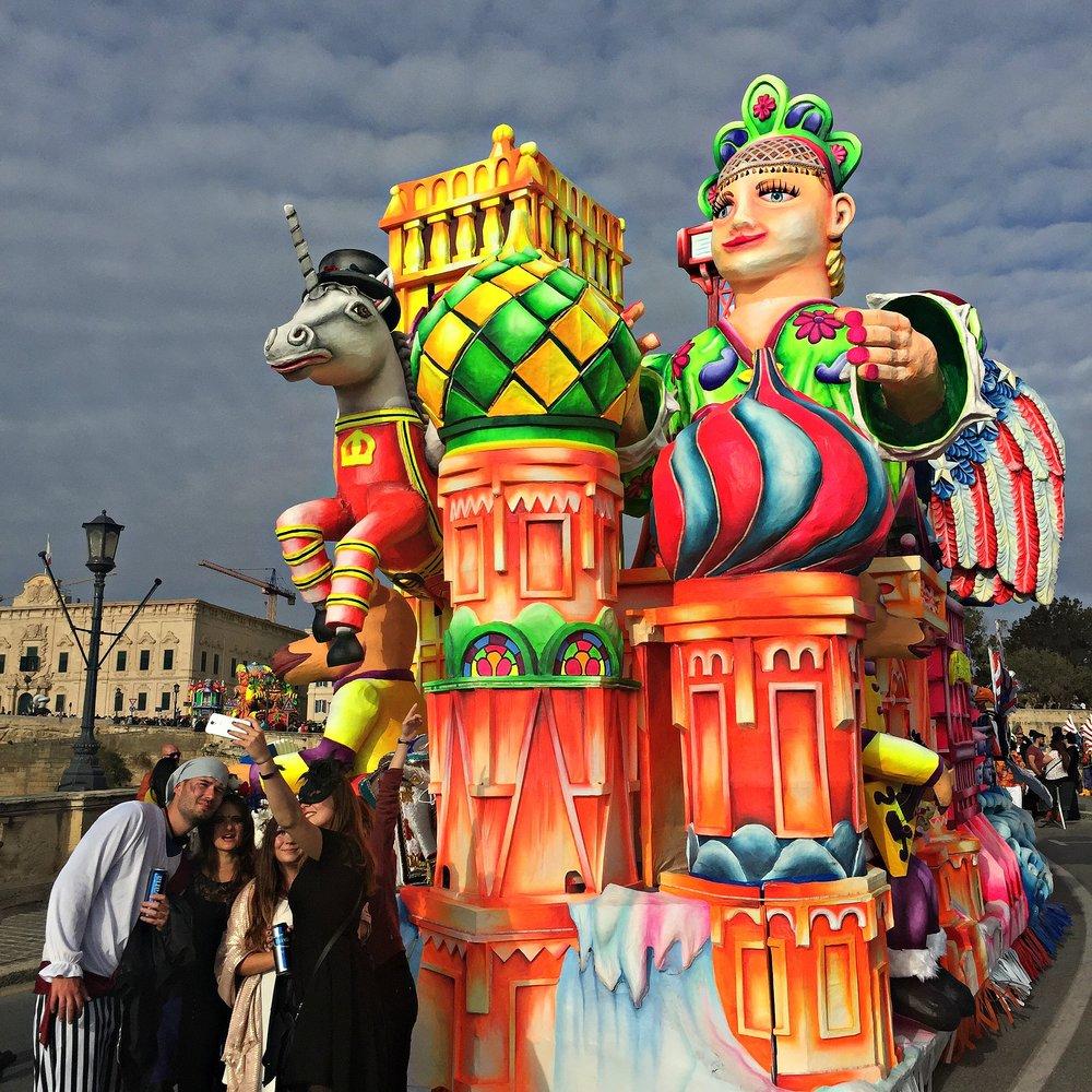 Malta Valletta Carnival Float