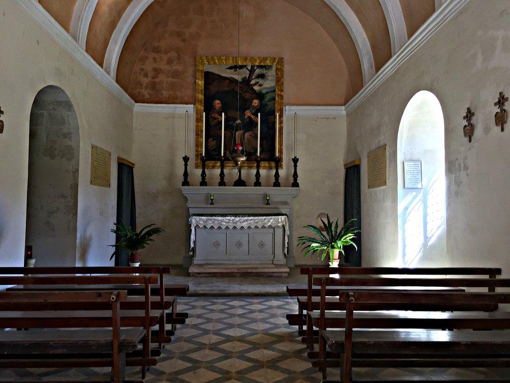 St Paul the Hermit Chapel Inside View