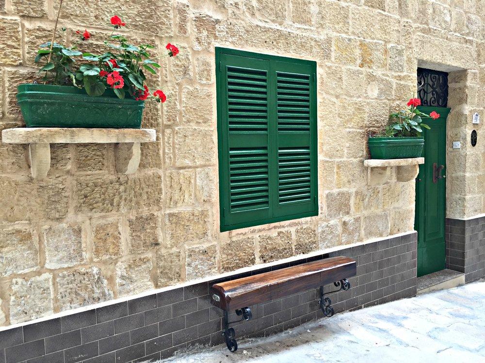 Malta Valletta House Facade