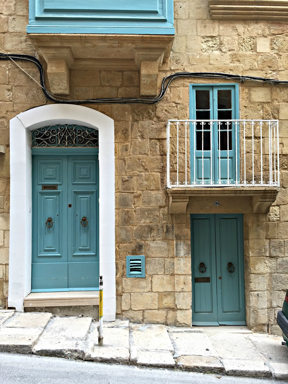Malta Valletta Blue House Door