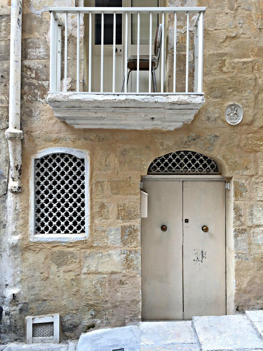 Malta Valletta House Door Beige Facade