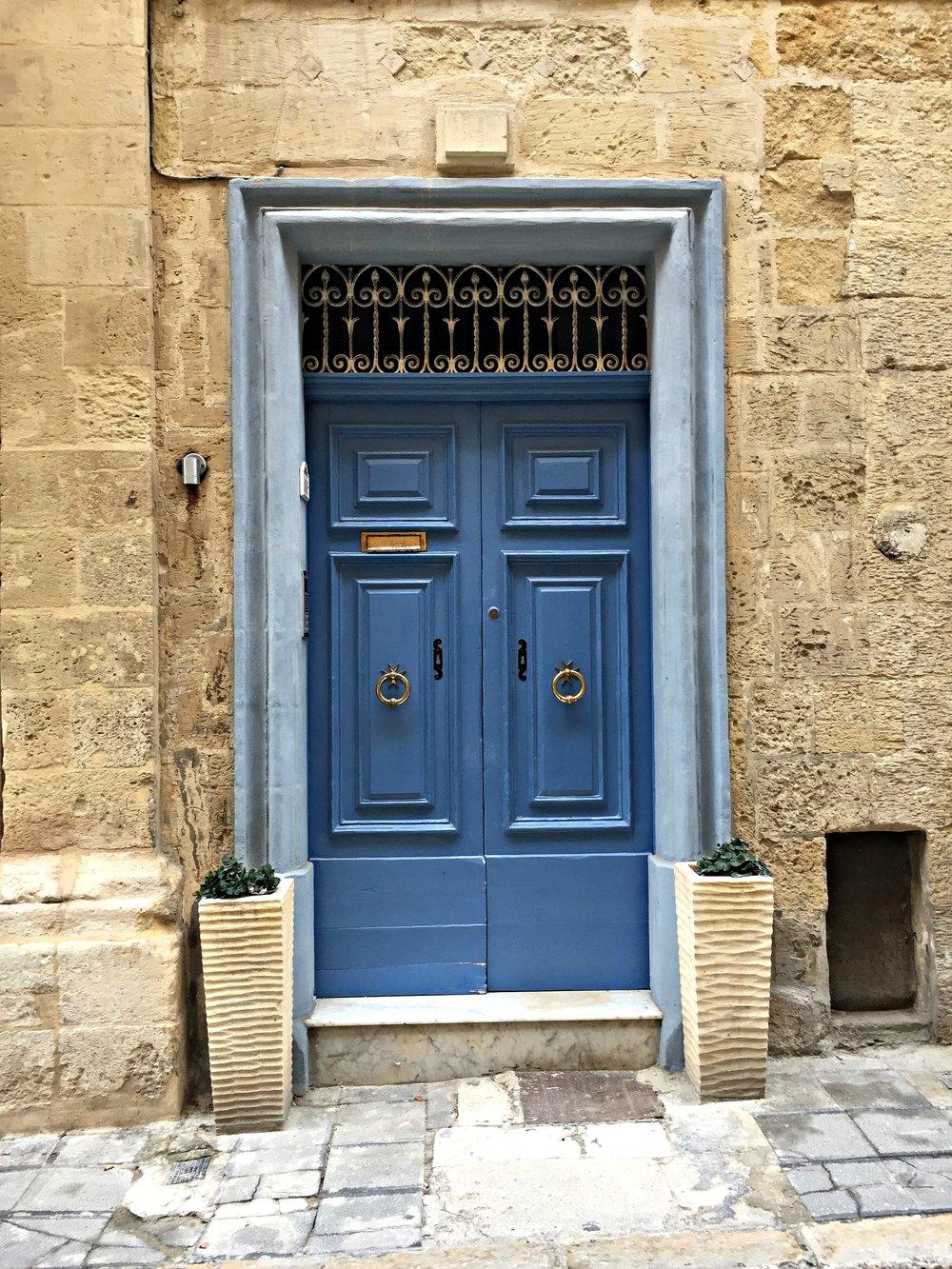 Malta Valletta Blue Door