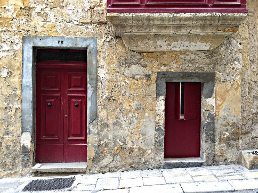 Malta Valletta Red Door