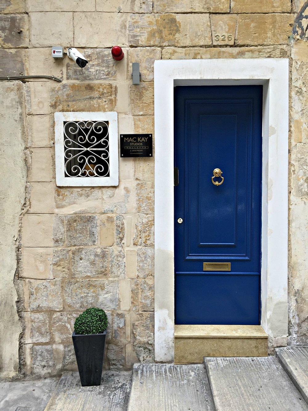 Malta Valletta the Blue Door