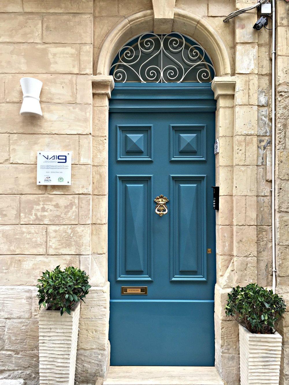 Valletta Malta Beautiful Blue Door