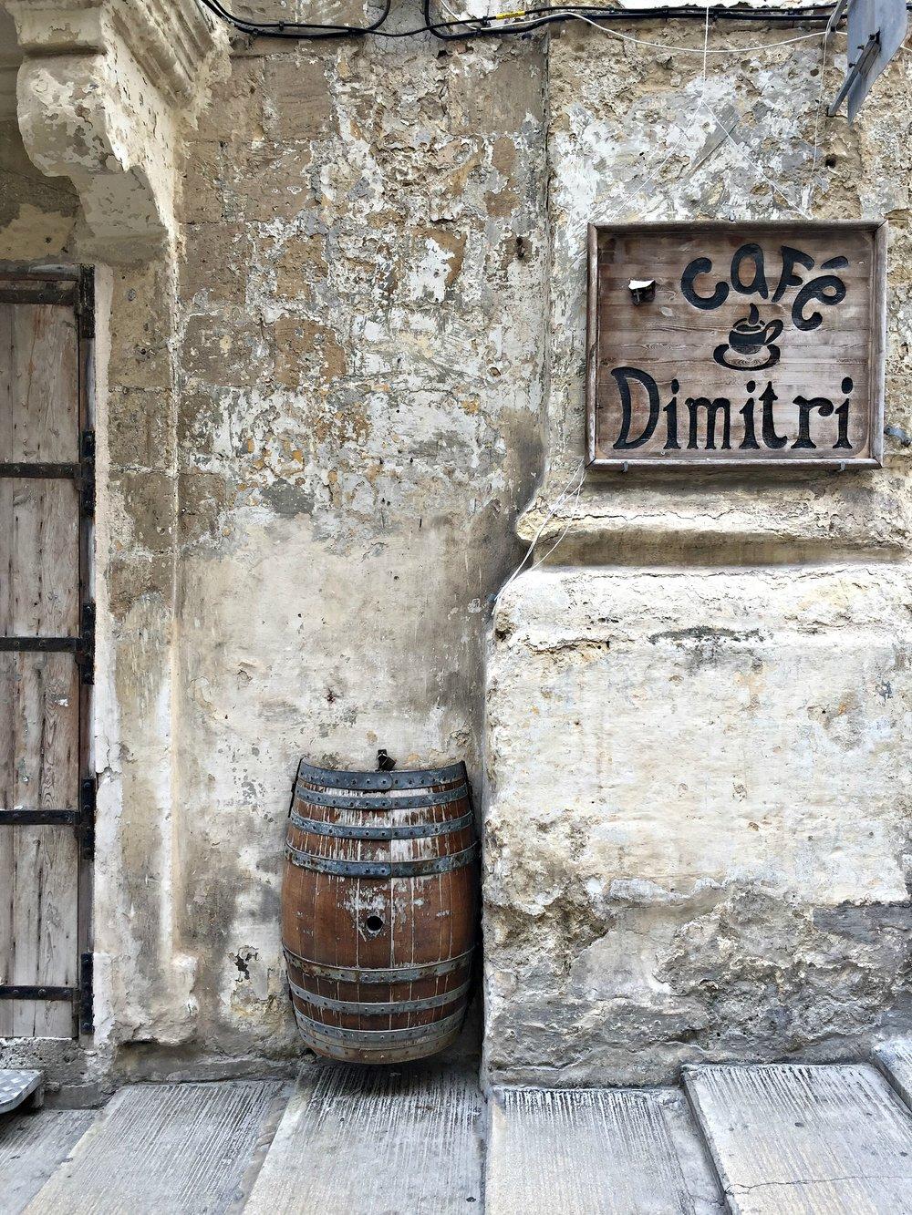Malta Valletta Cafe Dimitri