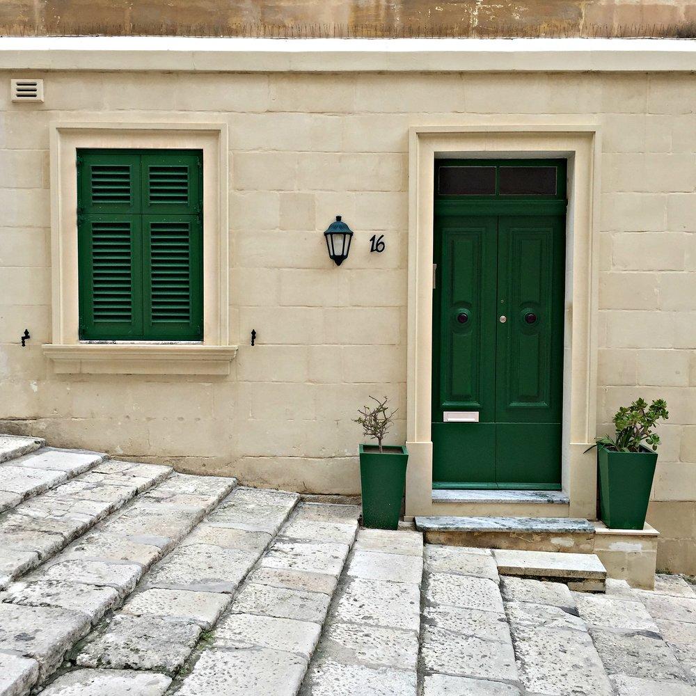 Valletta Malta Green Door and Window