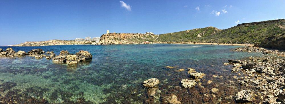 Ghajn Tuffieha Panorama Malta