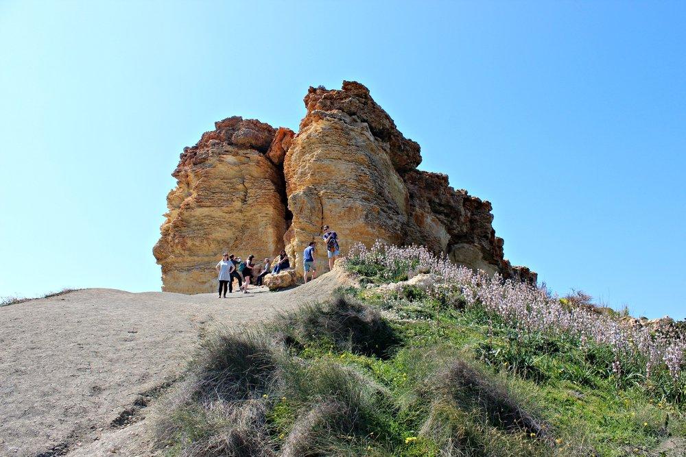 Cliffs around Ghajn Tuffieha Malta
