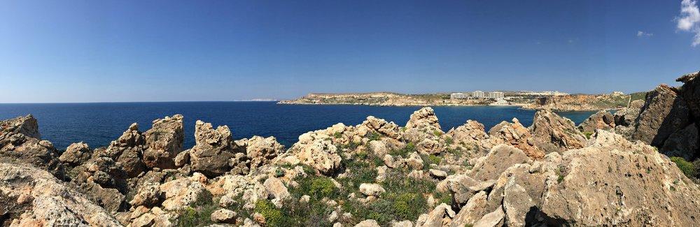 Ghajn Tuffieha and Golden Sands Resort Malta