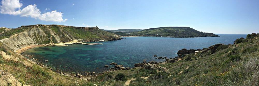 Ghajn Tuffieha and Gnejna Bay Panorama