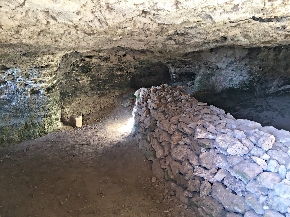 This cave was used for habitation until the 1930s.
