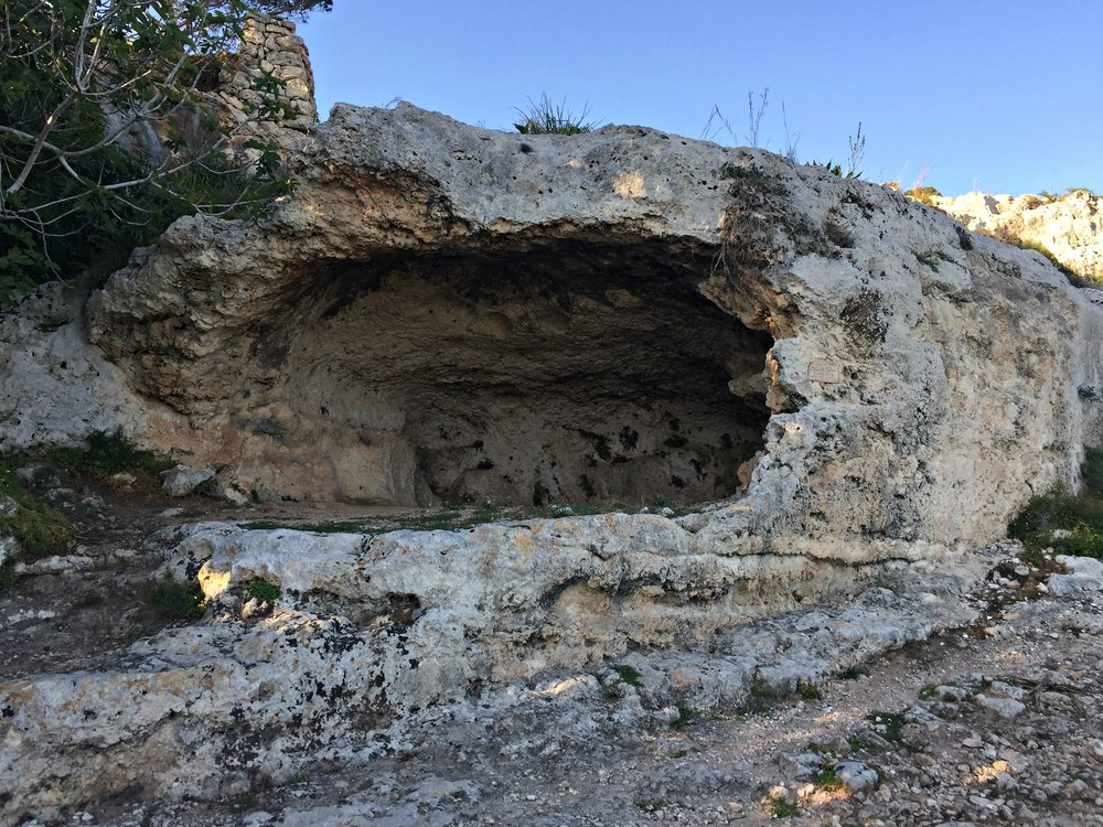 Ancient burial cave.