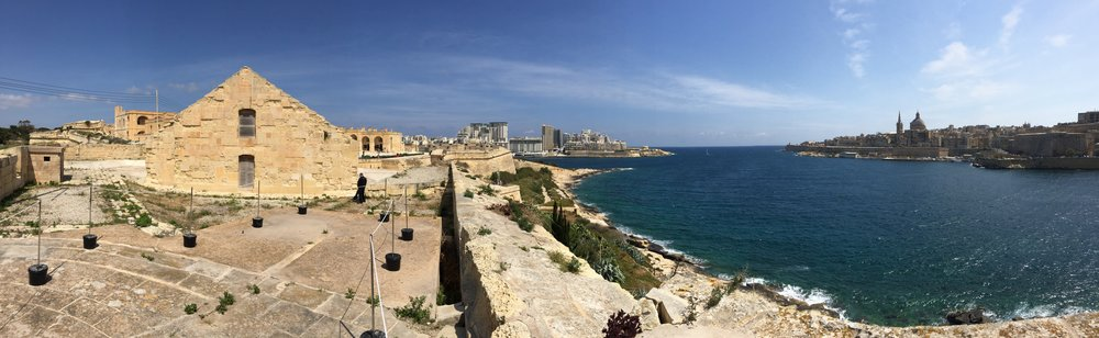 fort manoel with the view of valletta