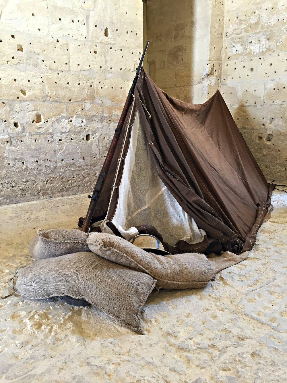 soldier tent fort manoel