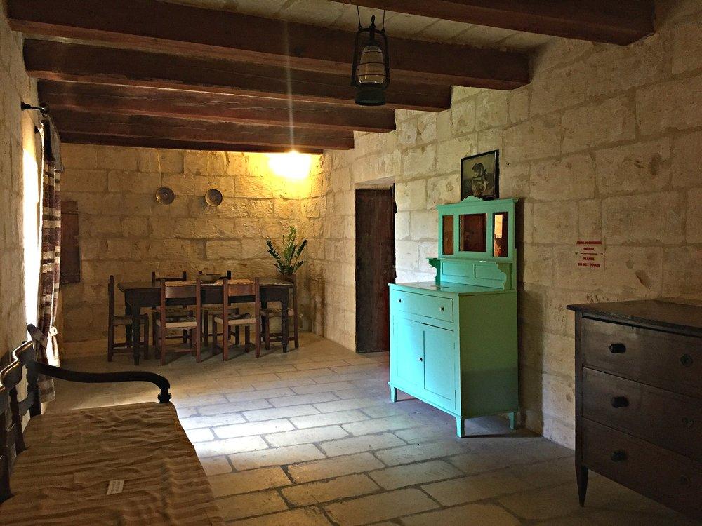 ta' kola windmill dining area gozo malta